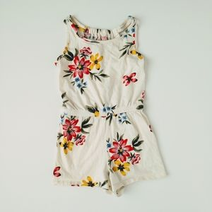 Old Navy Floral Tank Top Romper Shorts Girls M 8